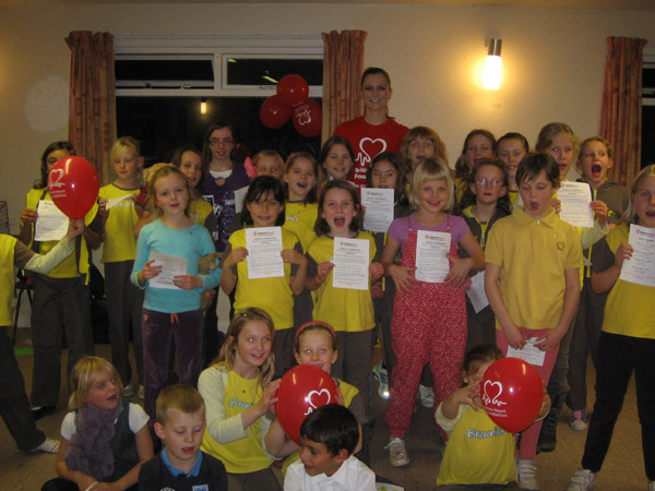 Sidmouth Brownies' Healthy Heart Badge